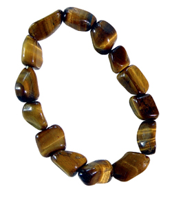 Tiger Eye Tumbled Stone Bracelet